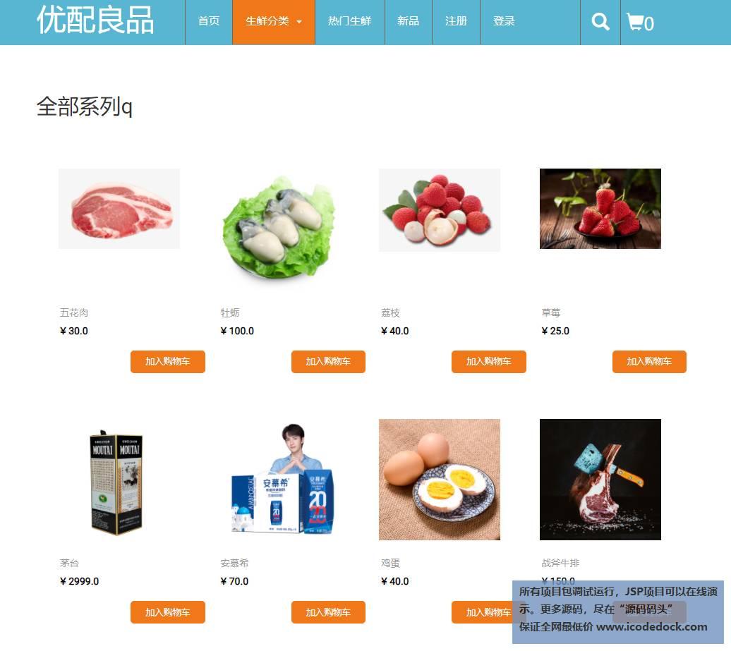 源码码头-JSP生鲜销售网站-用户角色-全部分类