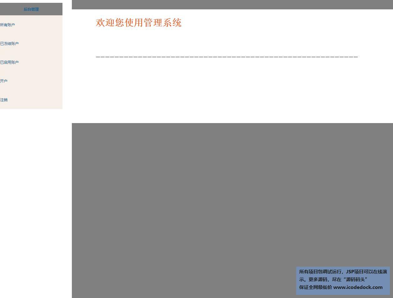 源码码头-SSH网上银行管理系统-管理员角色-首页
