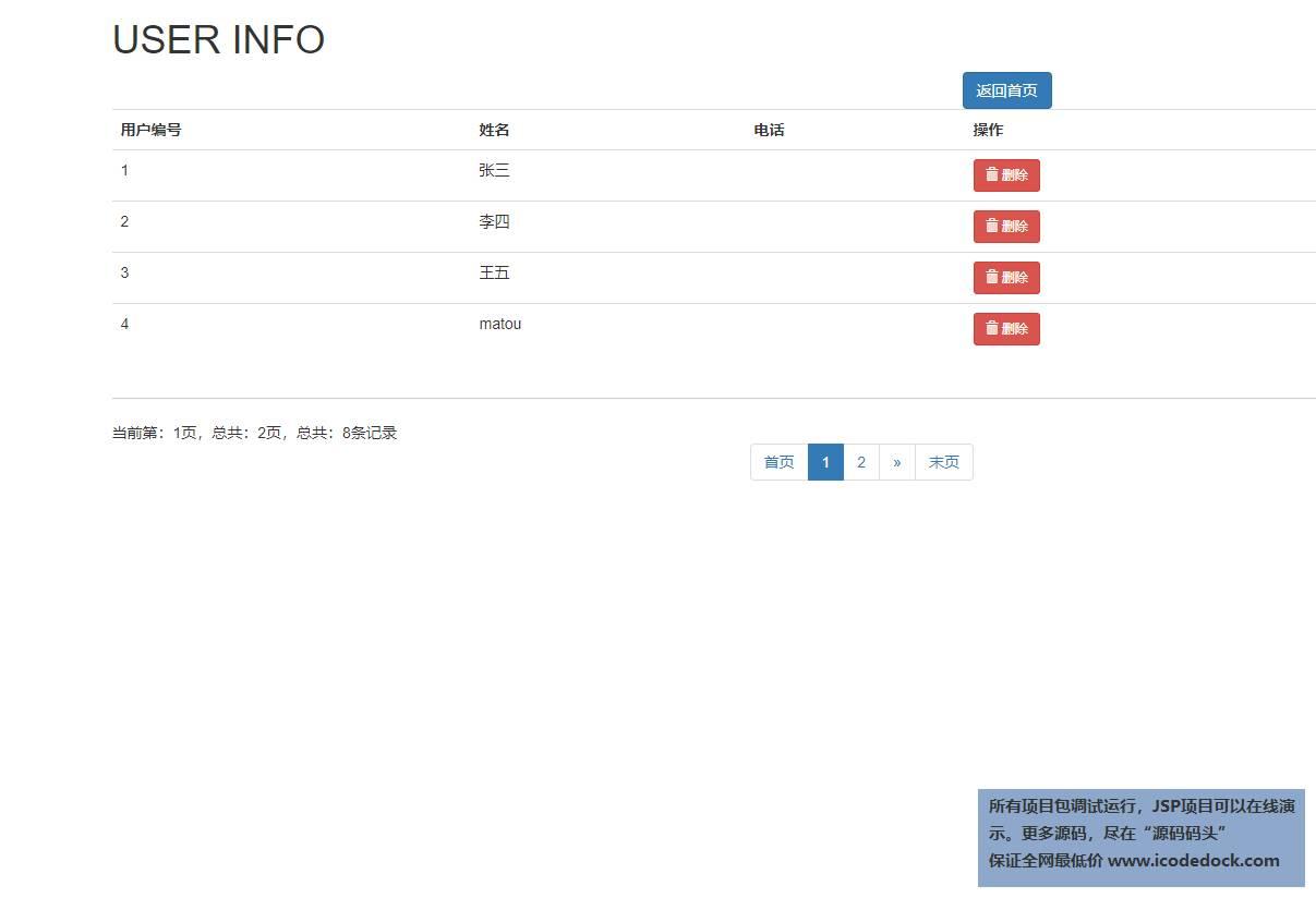 源码码头-SSM新闻网站管理系统-管理员角色-用户管理