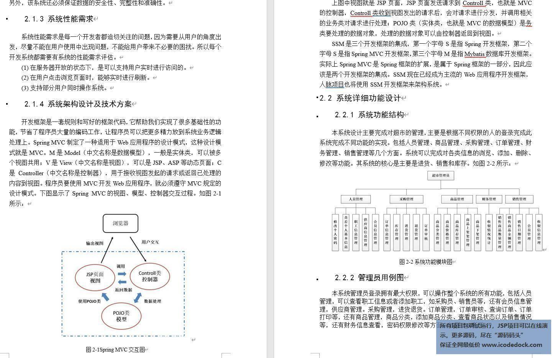 源码码头-SSM超市后台订单销售仓库库存综合管理平台-设计文稿-图文展示