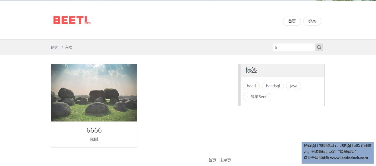 源码码头-Springboot实现的一个简单博客-游客角色-搜索-标签筛选